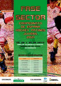 Cartel Fase Sector Campeonato de España Hockey Patines 2021